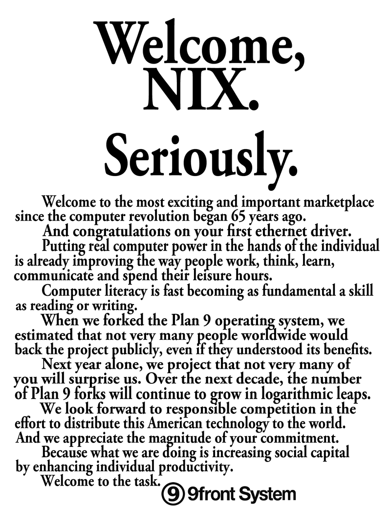 Welcome to nix.